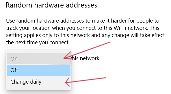 Random Hardware addresses daily
