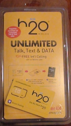 H2O Wireless Sim package