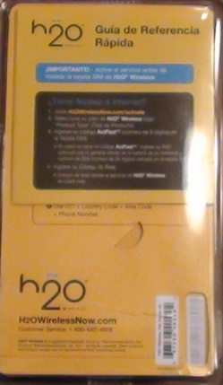 H2O wireless sim pack back cover