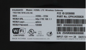 Straight Talk Huawei H350L LTE Wireless Gateway serial and other ids