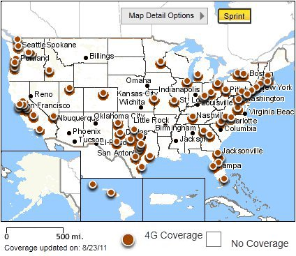 Sprint 4G data coverage